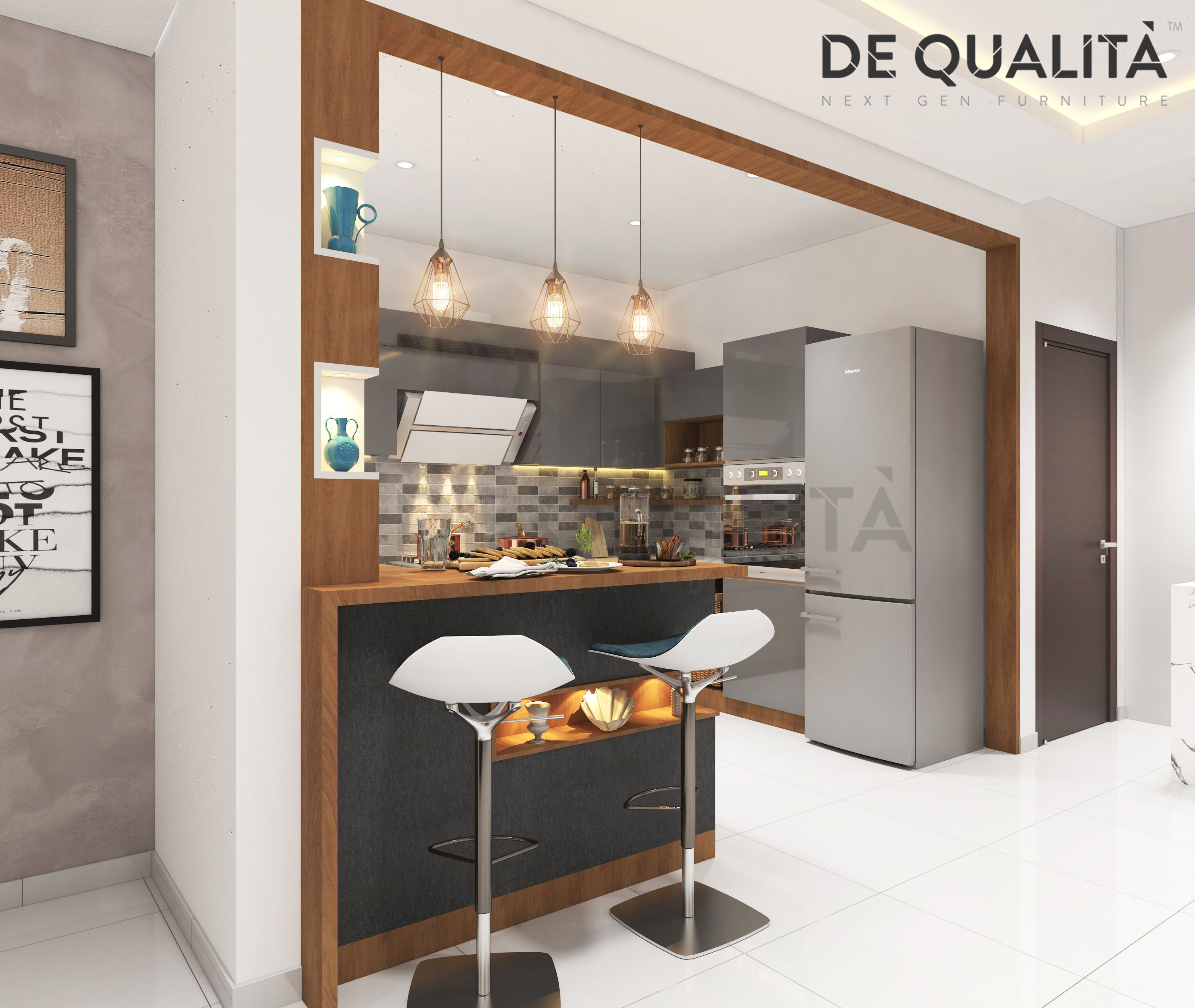 Home Design Ideas Bangalore: A Beautiful Breakfast Counter Fits Well In Any Kind Of