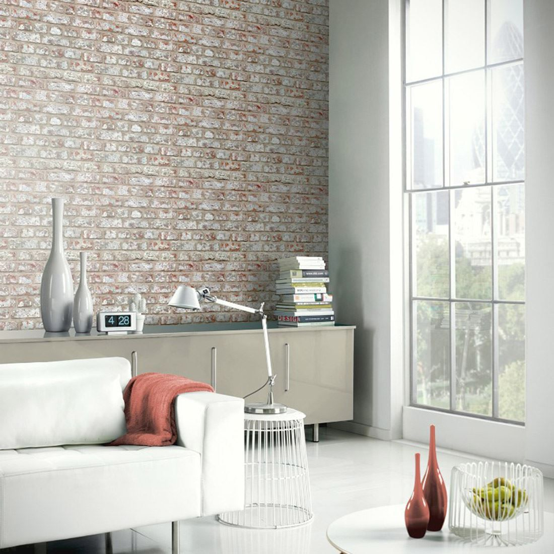 Details about ARTHOUSE RUSTIC STONE EFFECT WALLPAPER