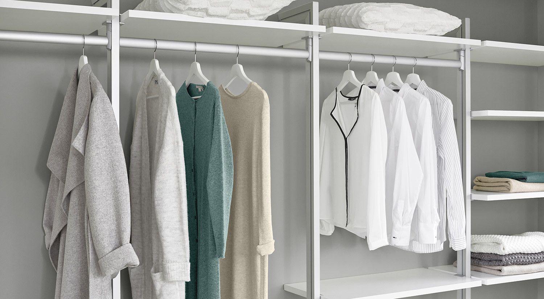 Kleiderstange Im Regalsystem Ankleidezimmer Clos It Home Wardrobe Rack Home Decor