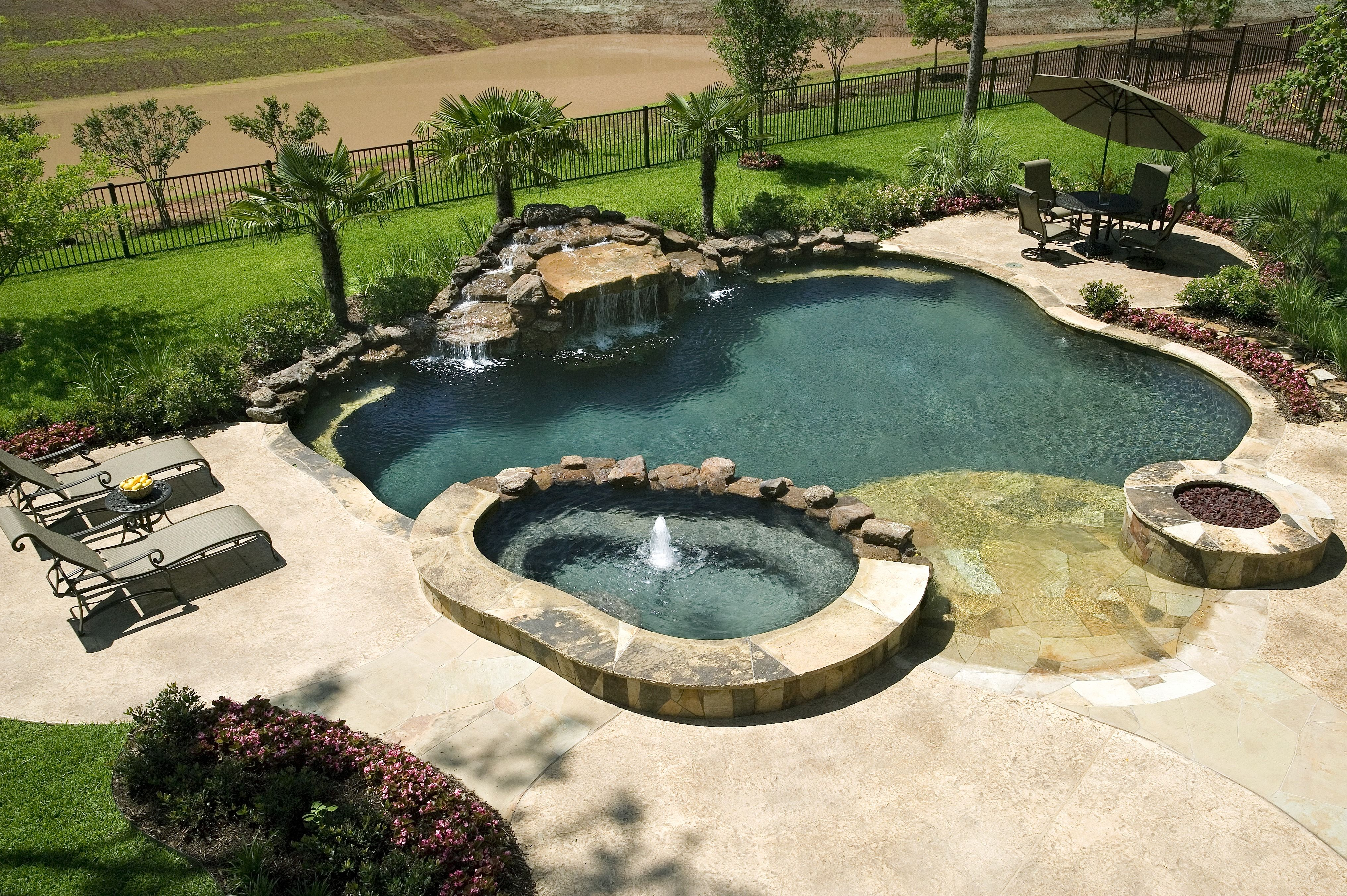 Benefits of a swimming pool landscaping pool for Pool installation cost