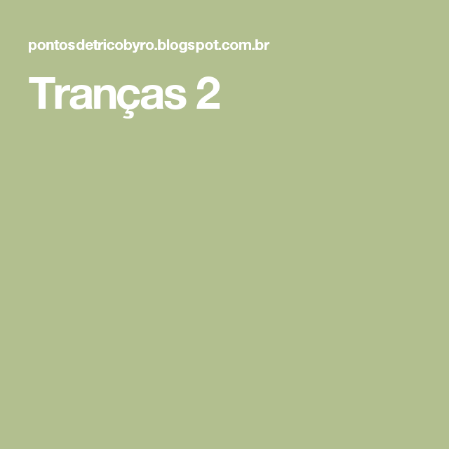 Tranças 2