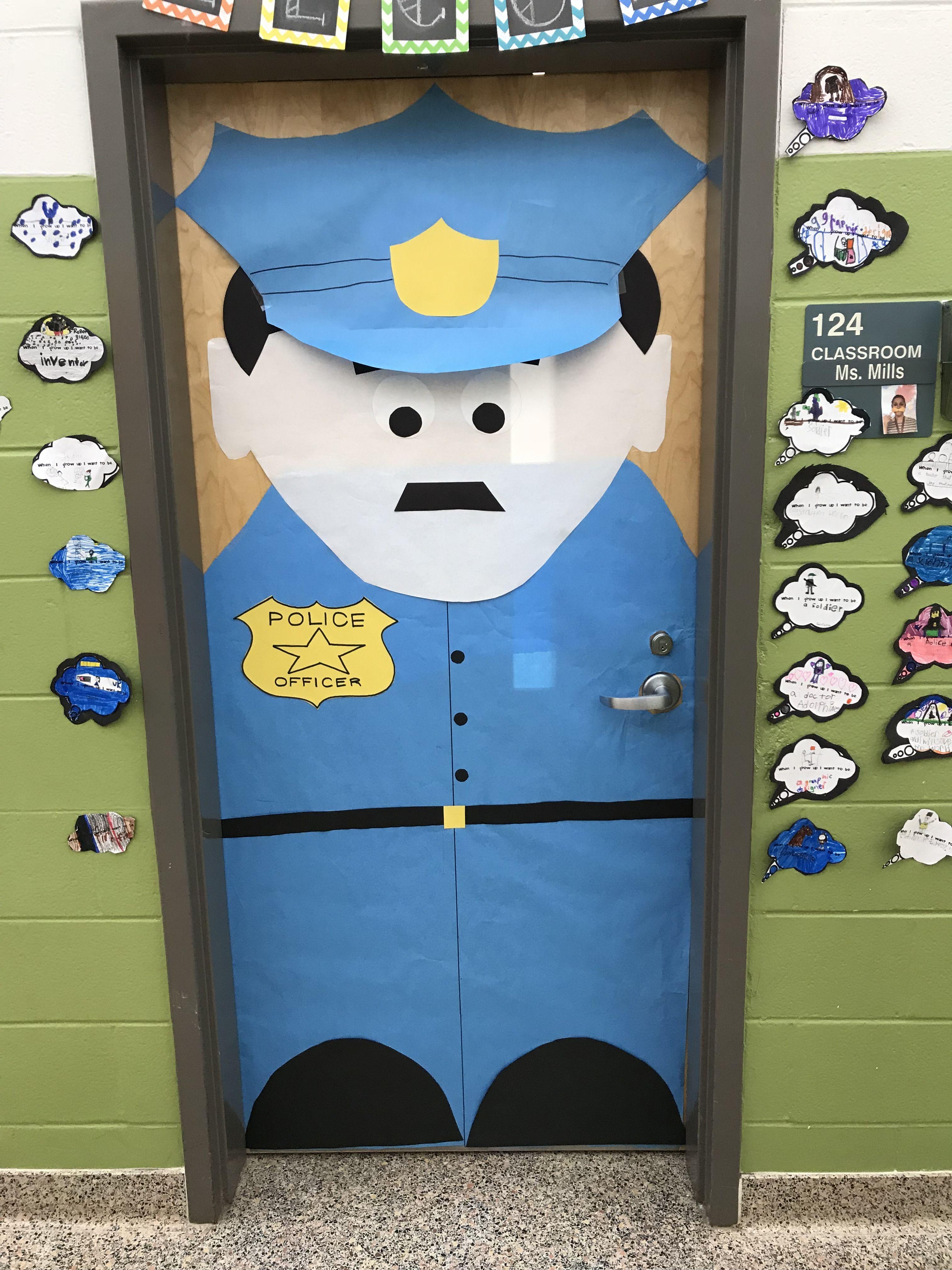 Police career door decorating contest