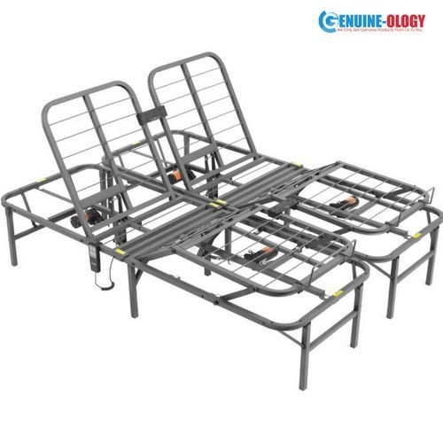 Adjustable Folding Bed Frame Electric Remote Foot Head Motor Fold