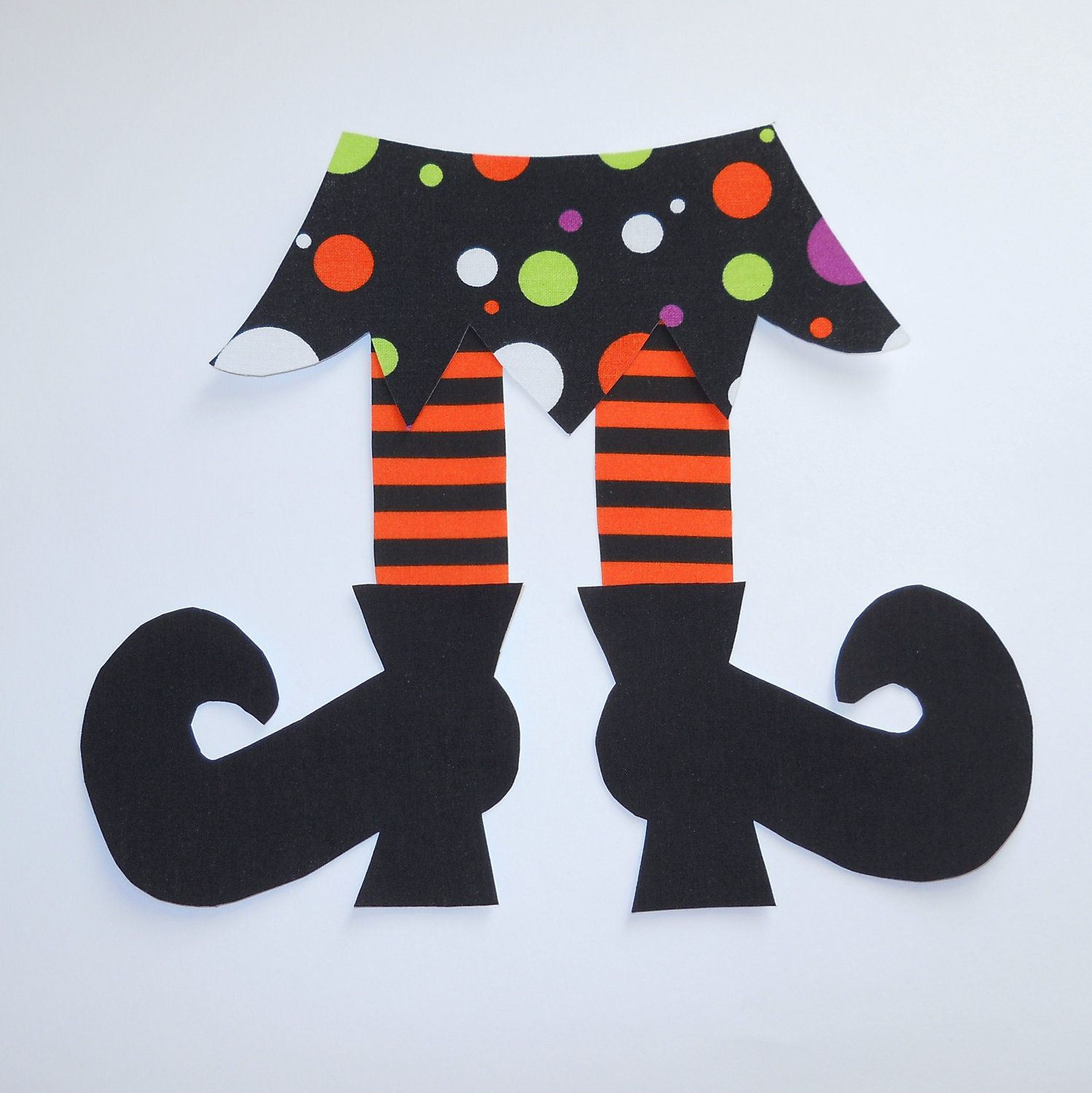 iron on applique halloween small witch skirt and shoes 350 via etsy