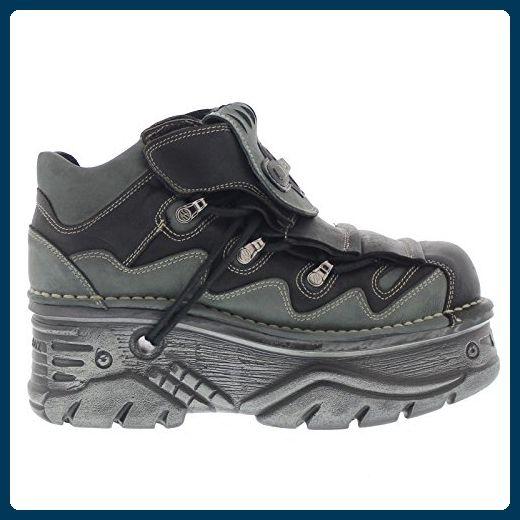 New Rock Neo enredadera para hombre zapatos de cuero negro M.CRP003-S1 (40 EU, Negro)