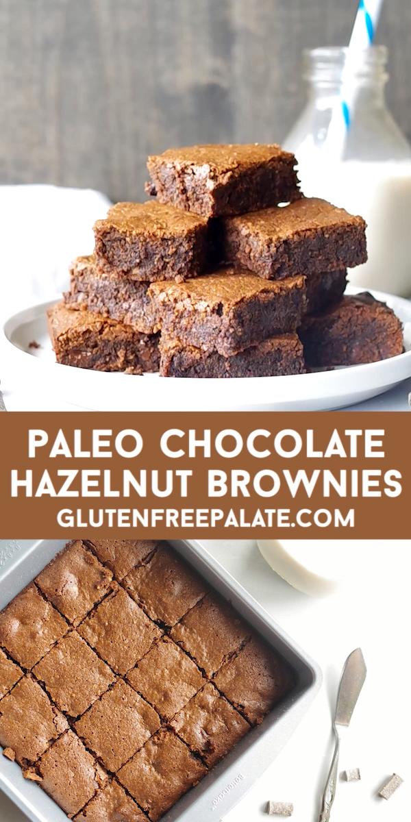 Paleo Chocolate Hazelnut Brownies