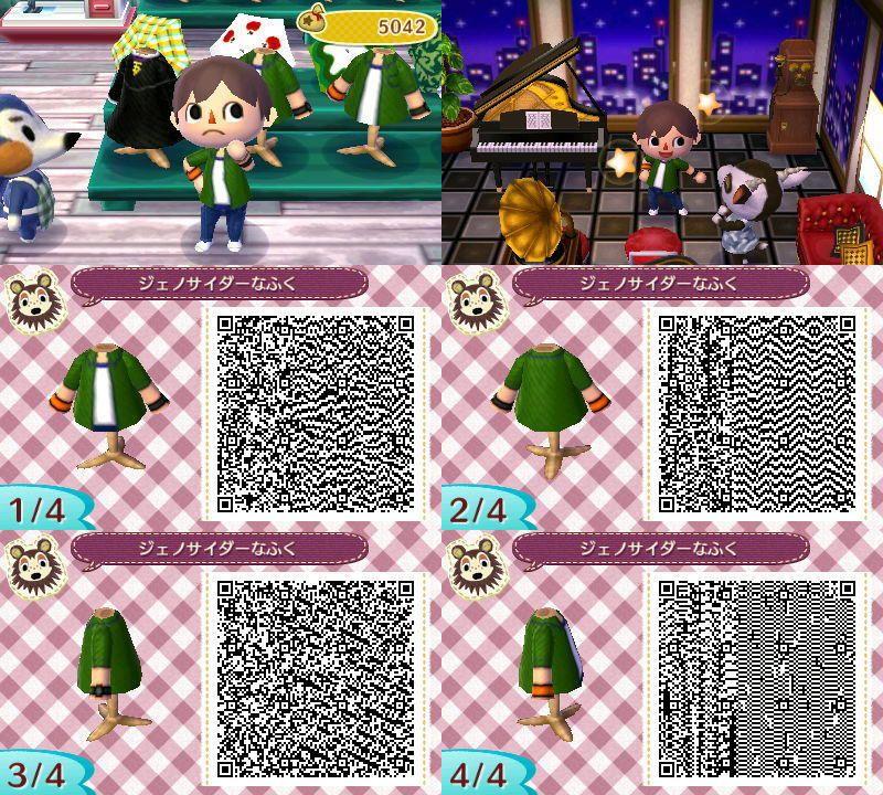 Newleaf Mensfashion Animal Crossing Qr Qr Codes Animal Crossing