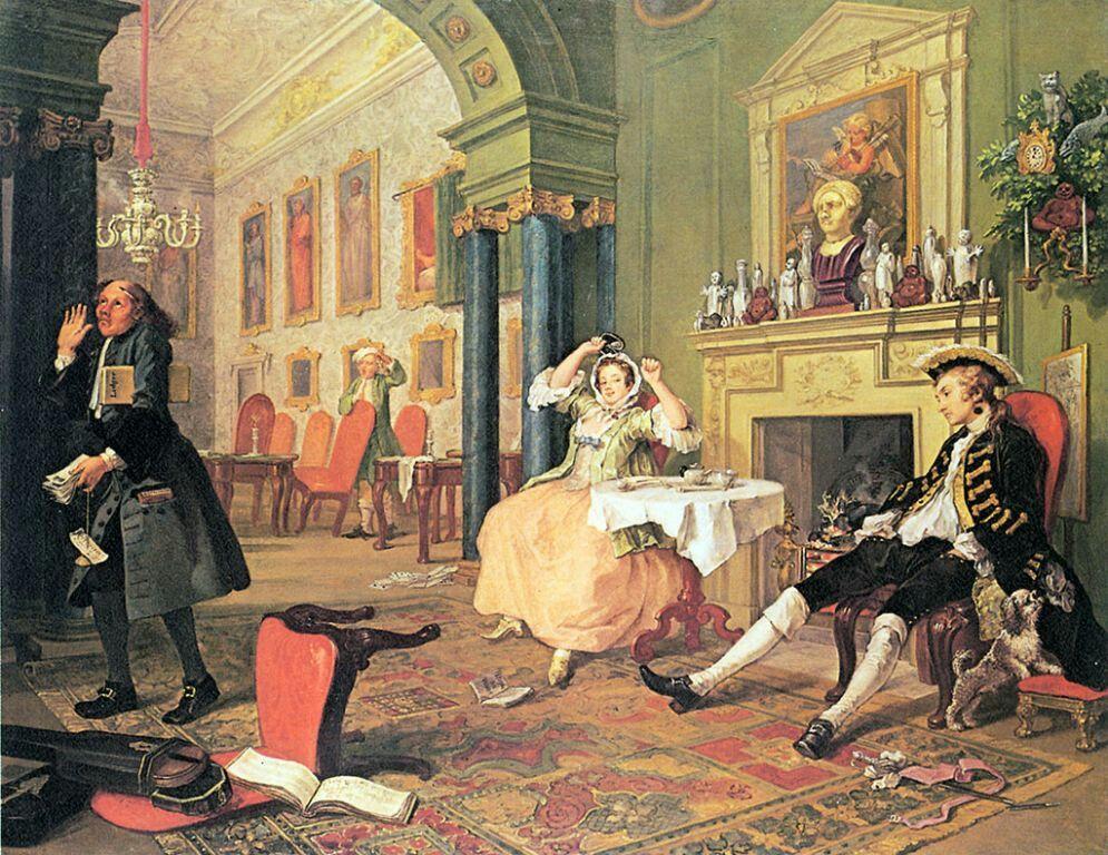 William Hogarth Marriage A La Mode The Tete A Tete 1743