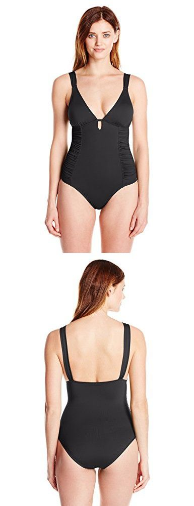 4e50b425c8 Lark   Ro Women s Keyhole One-Piece Swimsuit