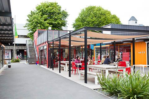Re start mall a pop up mall made from shipping containers for Home ideas centre christchurch