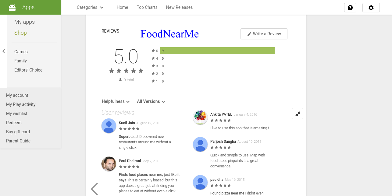 Food Near Me will find all the restaurants around with reviews, ratings..https://goo.gl/F5ptGe