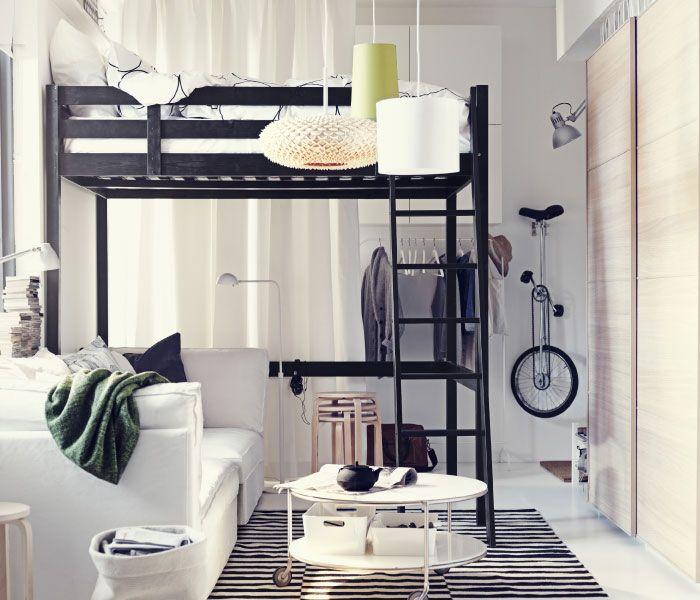 IKEA Österreich, Inspiration, Schlafzimmer, STORÅ Hochbettgestell