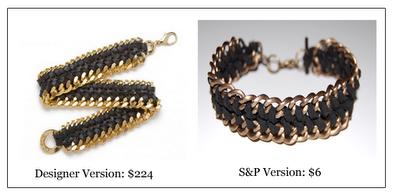Cavo e catena doppia Wrap Bracelet