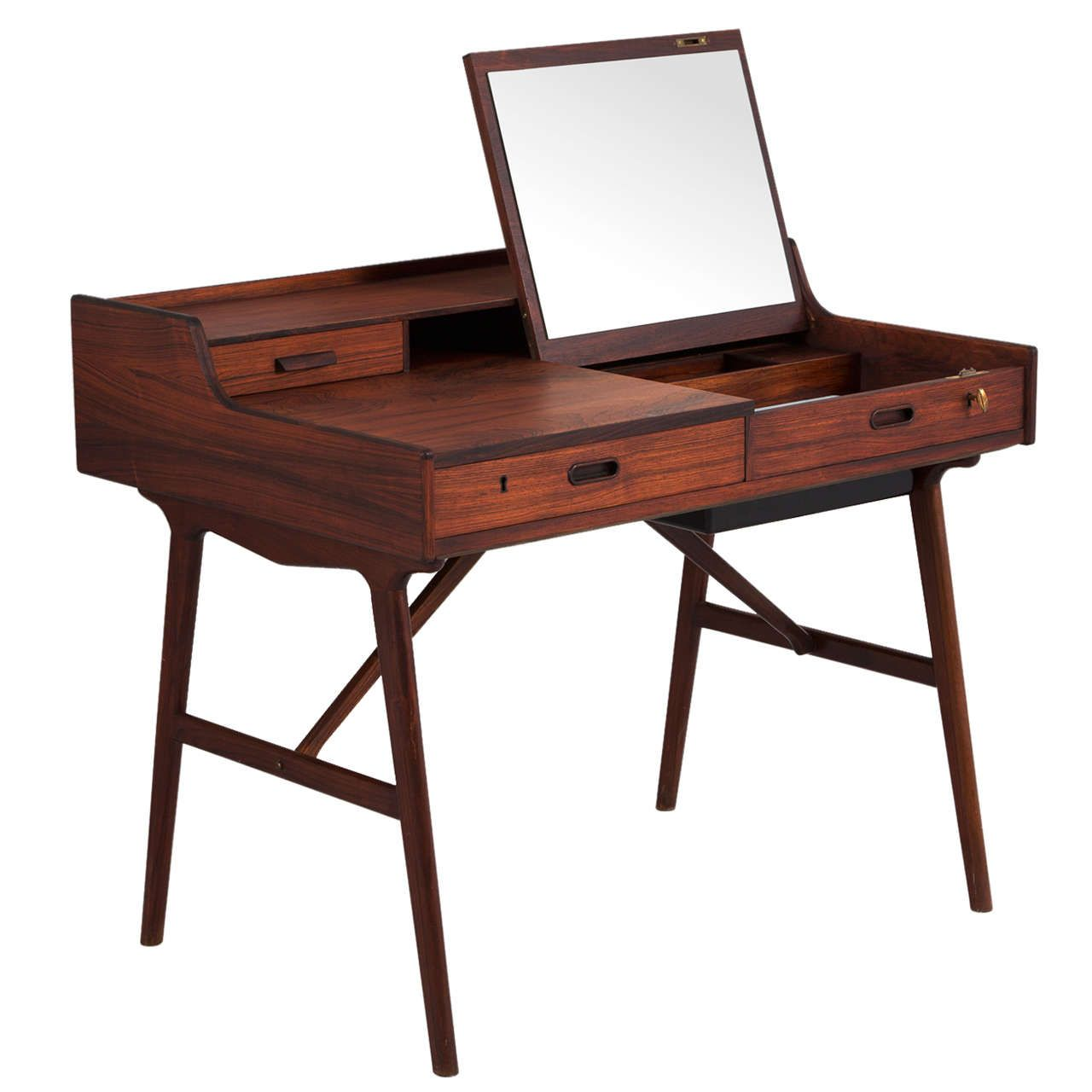 rare rosewood writing desk by arne wahl iversen