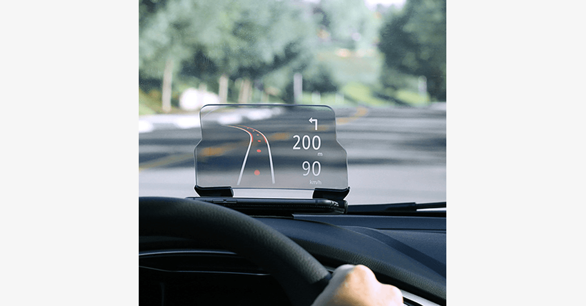 Universal Phone Holder - Foldable, Hands-Free Transparent Display - Converts Your Phone into Head-Up Display deal presents