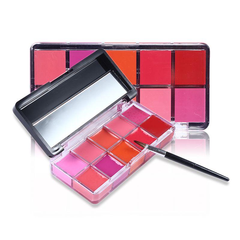 Jelly Lip Gloss Palette Lipgloss Professional Brand Makeup Tint Baby Lip Kit Balm Batom Rouge Liquid Matte Lipstick Set Make Up