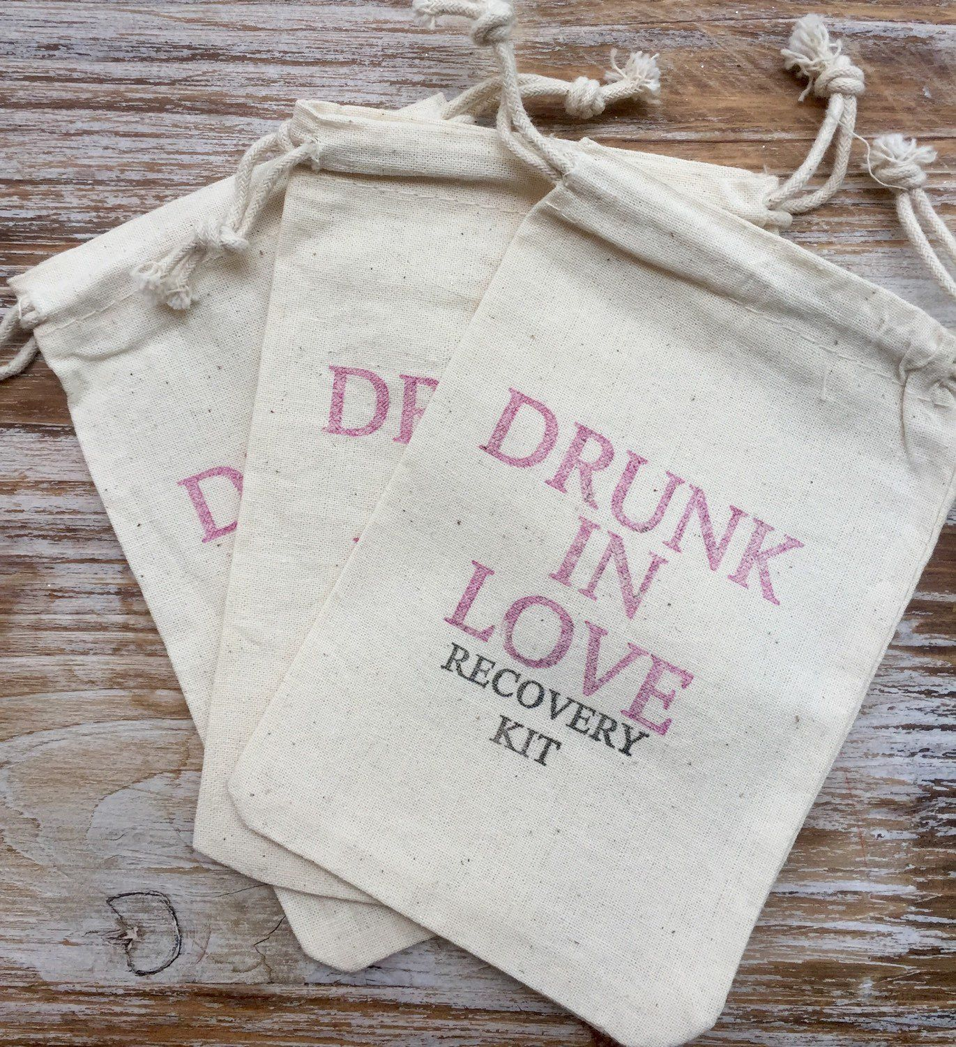 12 Drunk in 5x7 love Hangover kits, recovery kit, bachelorette ...