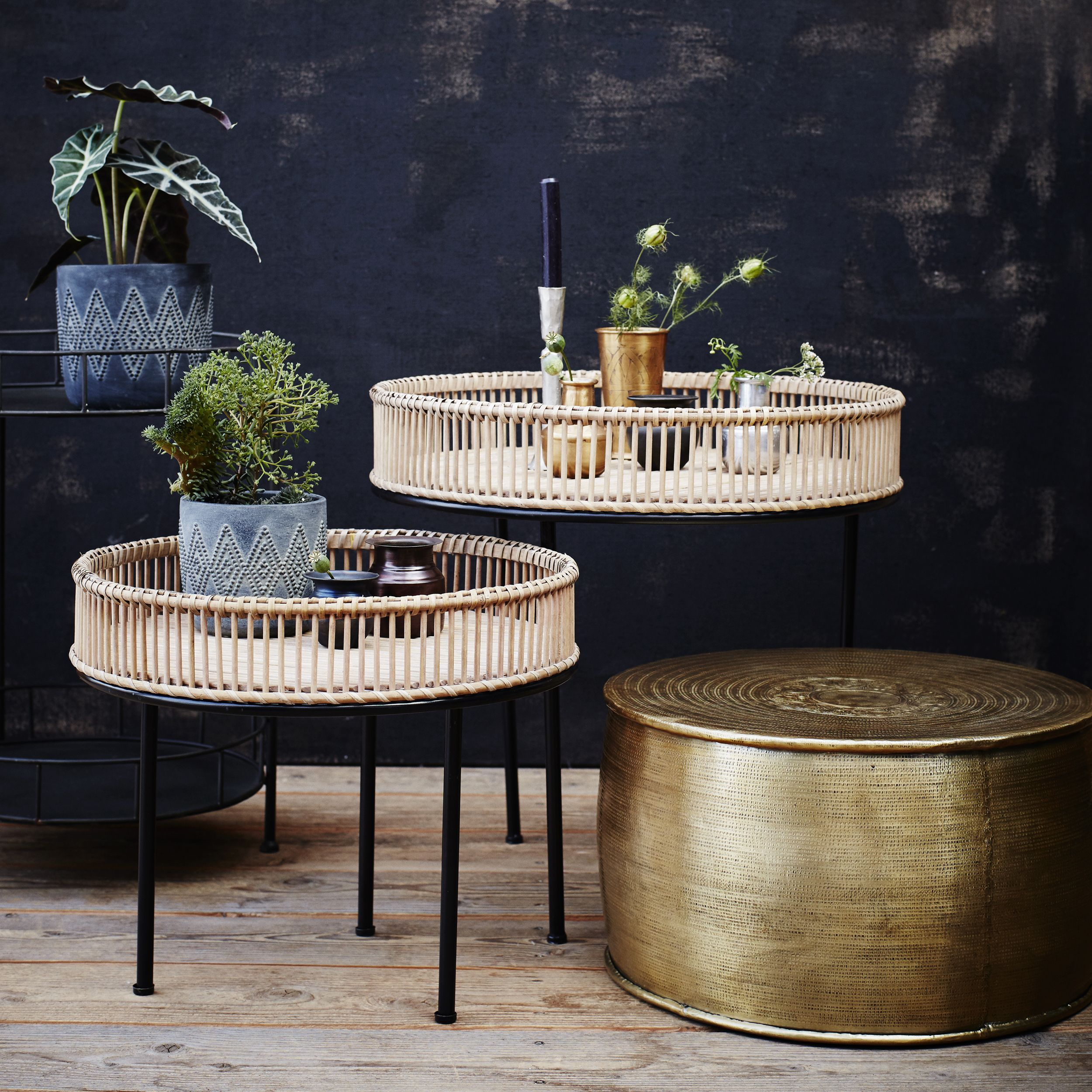 12 Living Room Storage Ideas To Up Your Space Metal Side Table Coffee Table Rattan Coffee Table #storage #side #table #living #room