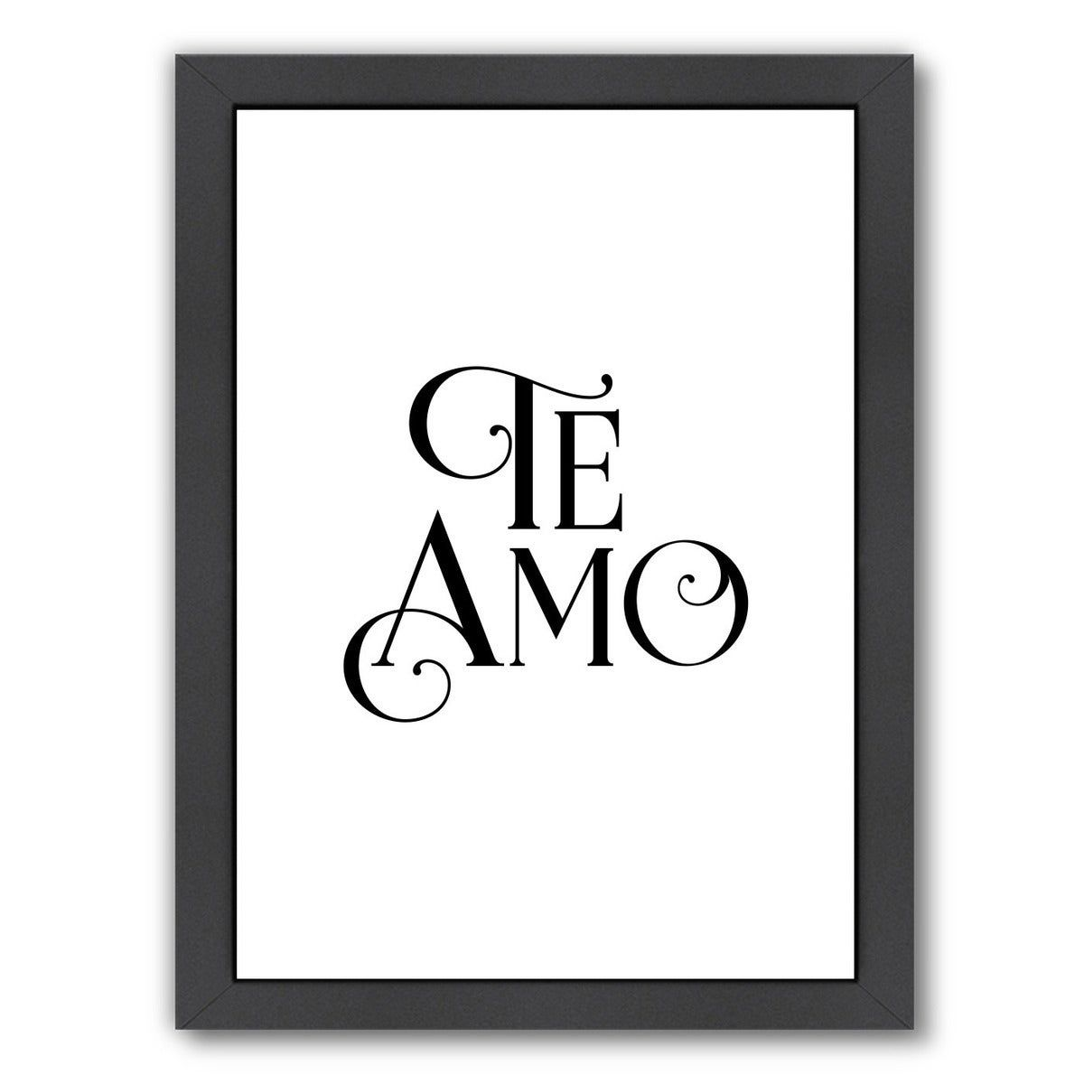 Americanflat Te Amo Framed Wall Art Framed Wall Art Fall Mantel Decorations Wall Art