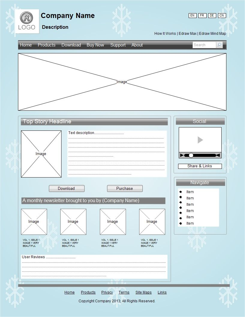 A website wireframe is also called a page schematic or screen ... on