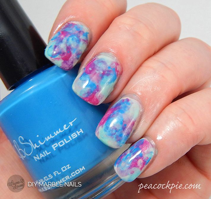 Step by step guide for creating marble/watercolour effect nails ...