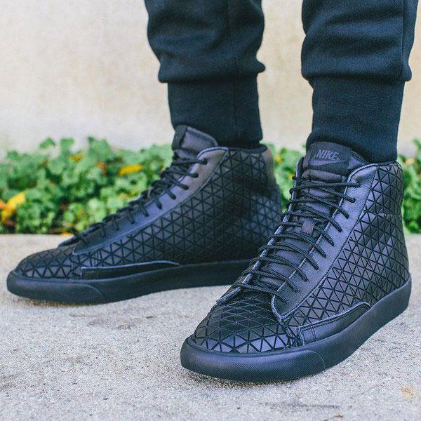 Nike Blazer Mid Metric Qs Black Black 744419 001 Nike Blazer Sneakers Nike