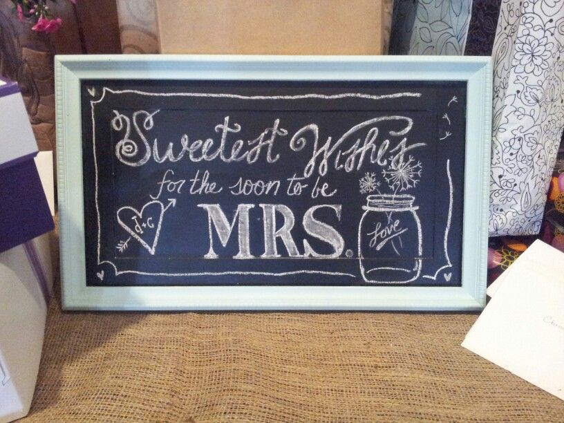 bridal shower chalkboard sweetest wishes for soon to be mrs. mason, Baby shower invitations
