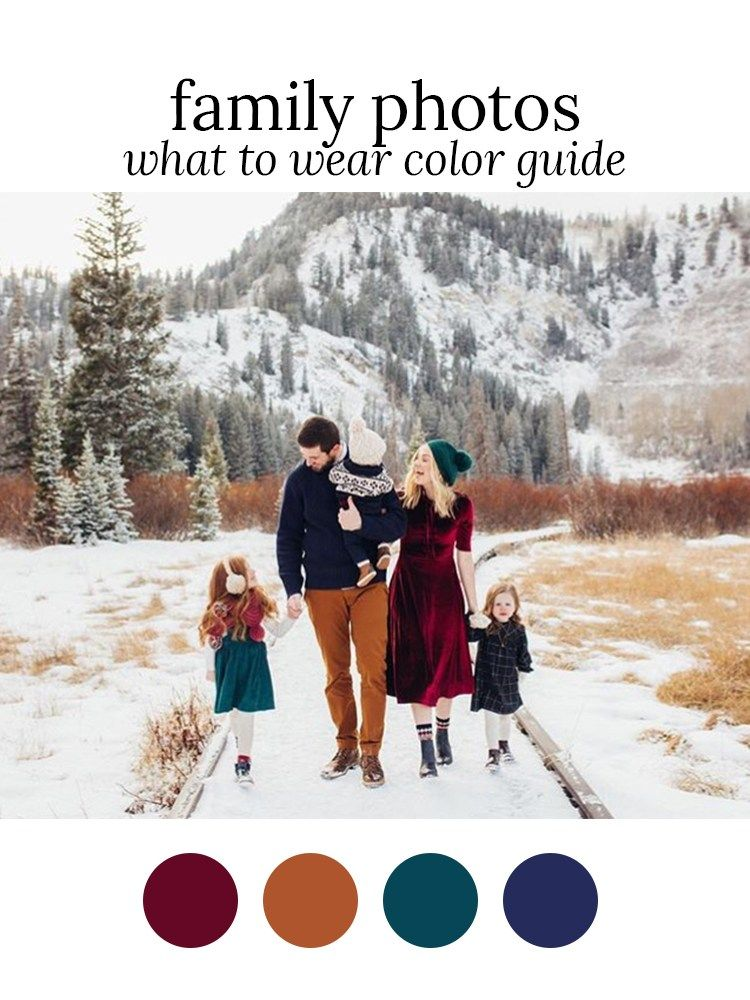 Winter Family Photo Scheme: Gem Tones | Outfits by Color – The Family Photo Blog #familyphotooutfits
