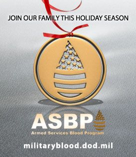 Join our family this holiday season. Give blood. #militaryblood #holiday #donateblood #bestgiftever #savelives