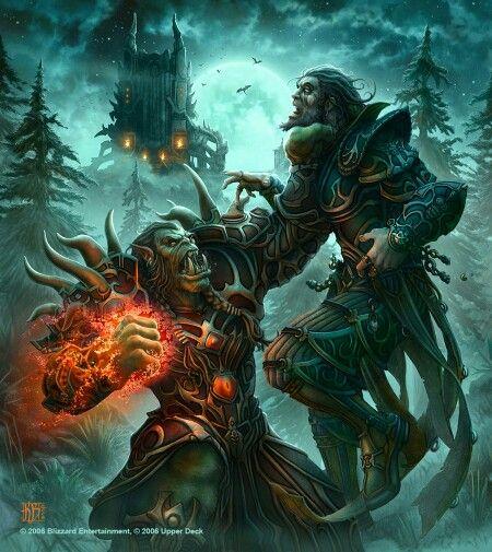 Orco Vs Humano Fantasy Illustration World Of Warcraft Wallpaper