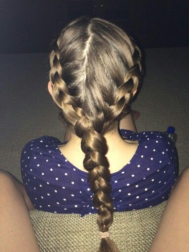 Two Dutch Braids Into One Two Dutch Braids Dutch Braid Braids