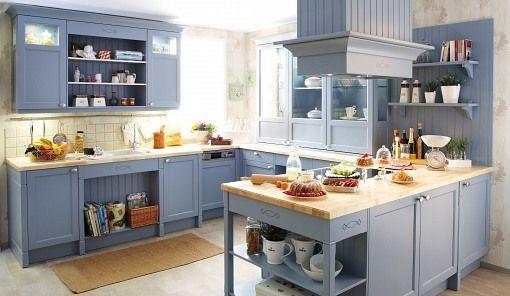 Fair Nett Blaue Landhausküche Küche In Blau Jetzt Bequem Mit Küchen - www küchen quelle de