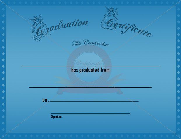 Graduation Certificate Diamond Template GRADUATION CERTIFICATE - graduation certificate template