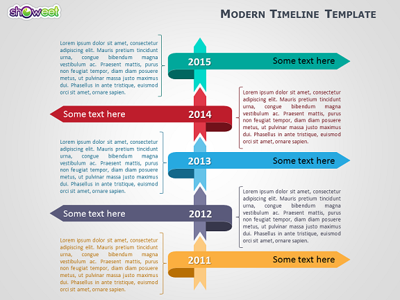 Modern Timeline Template For Powerpoint  Template And Ppt Template