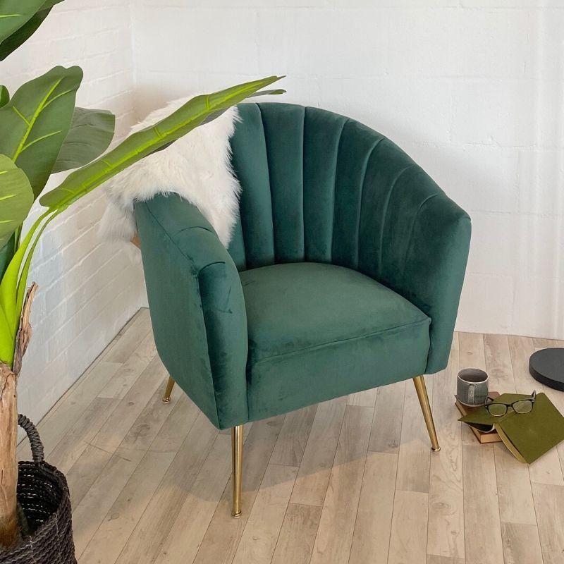 Alexandra Green Velvet Armchair In 2020 Green Velvet Armchair Green Armchair Luxury Furniture Living Room