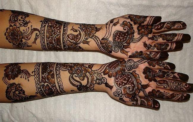 Arm Mehndi Style : Awesome black rajasthani mehndi designs fashi
