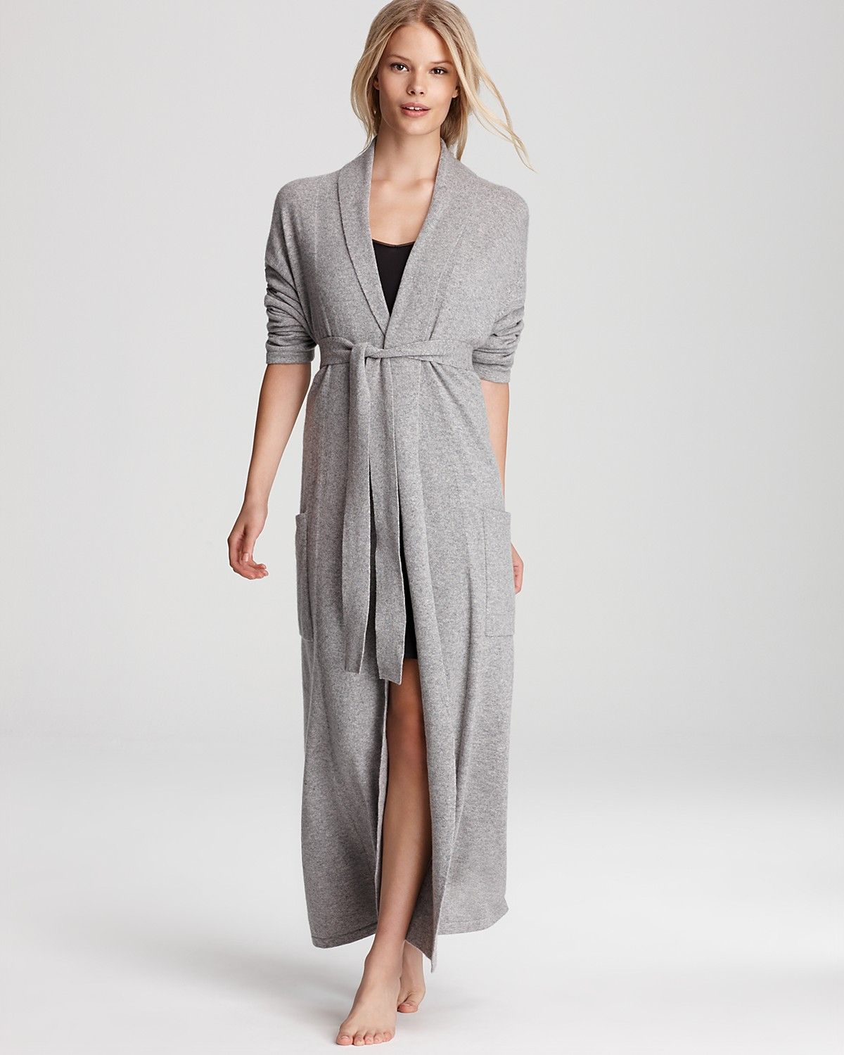 Ginia Cashmere Gowns Wrap Gown: Arlotta Cashmere Robe