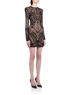 4822266a Balmain - Tattoo Jacquard Knit Sheath | Holiday STYLE! | Dresses ...
