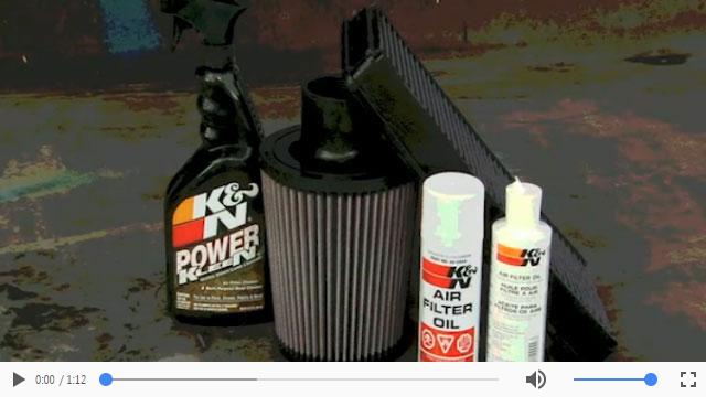 Video- Reinigungsanleitung zur Reinigung und zum Nachölen Ihres K&N Luftfilters