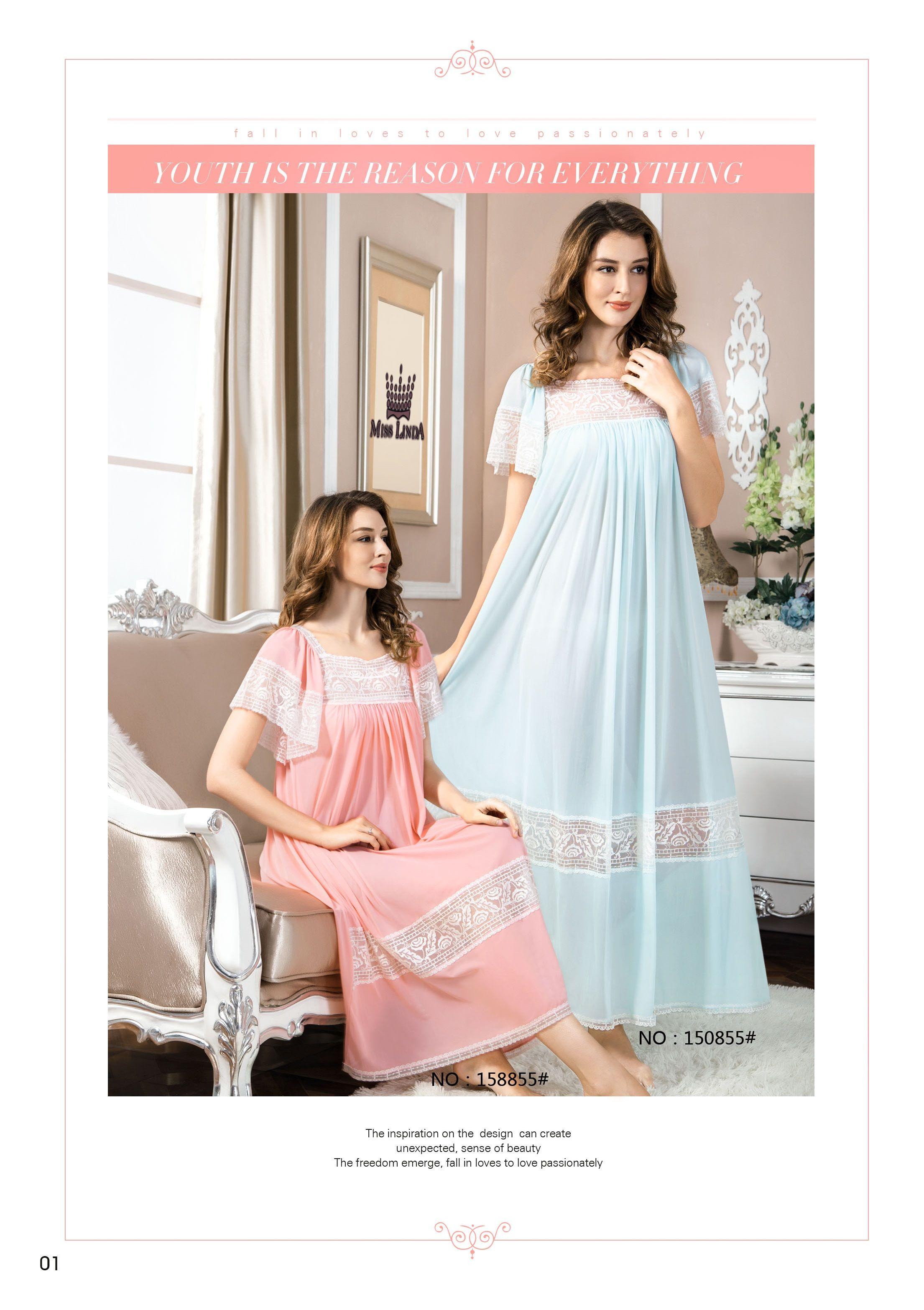 8b4908b3ad Silk Elegance MISS LINDA® Short Sleeve Long Sleepwear  follow  like ...