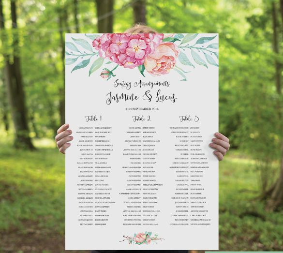 Seating Chart Template Free \ Premium Templates CRAWFORD - wedding charts