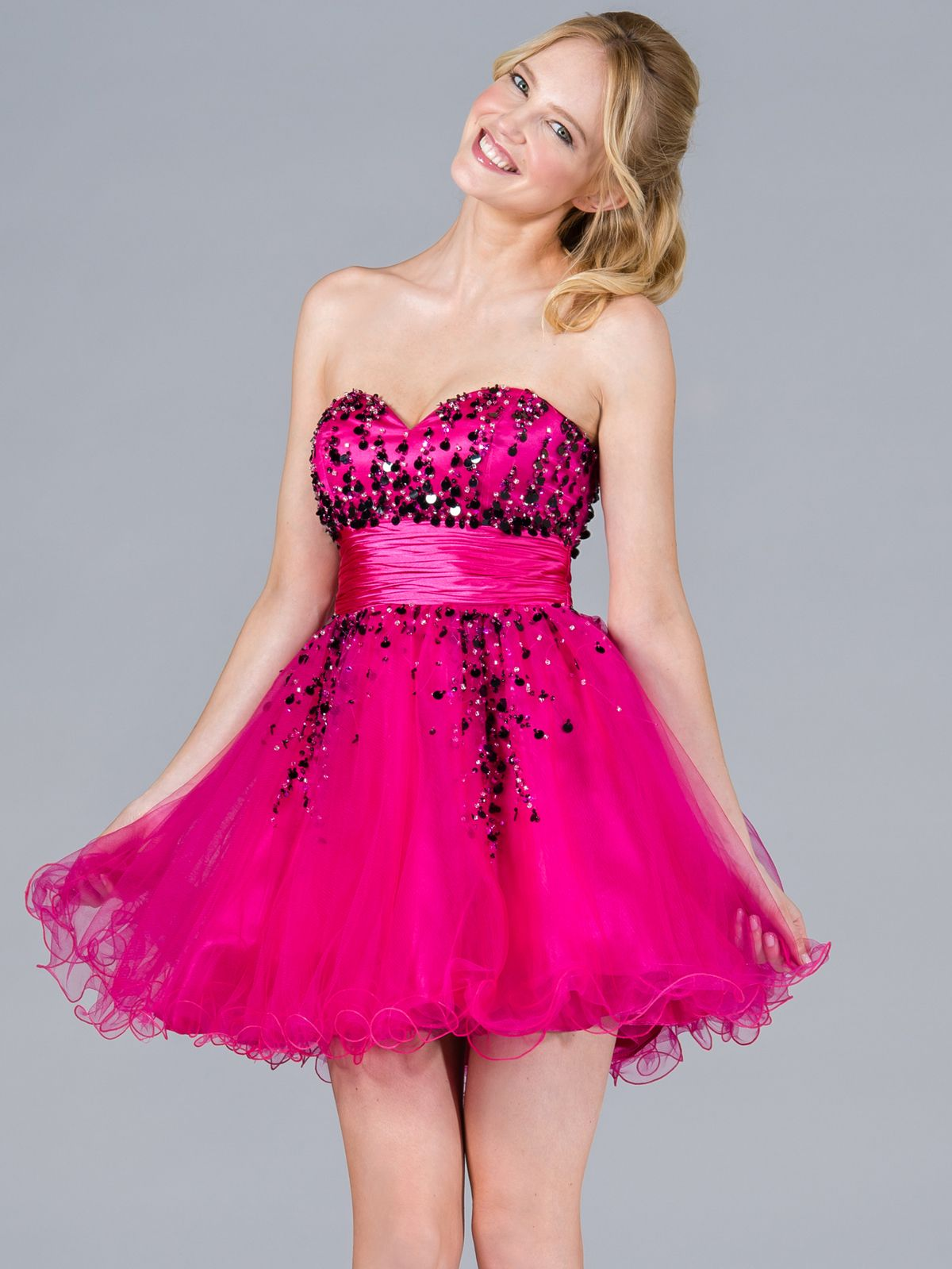 Sequins and Beads Short Prom Dress. Style #: JC809. Get yours at www ...