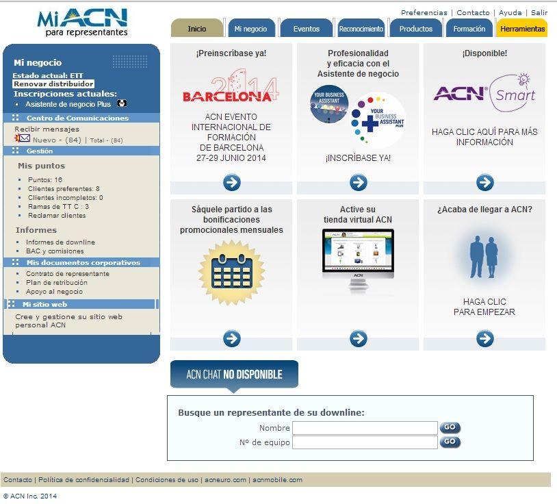 Mi Oficina Online De Acn Http Antoniodominguez Acnrep Com