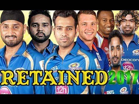 IPL 2017 Team Players List ○ Mumbai Indians(MI) Retained Player From Las.
