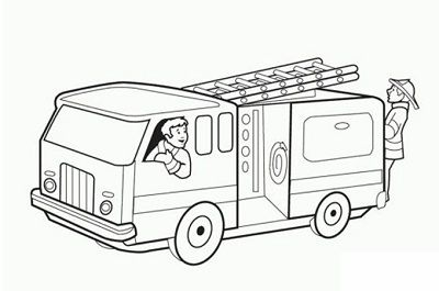 Pin By Aimadrahwa On Coloring Fire Truck Drawing Firetruck Coloring Page Fire Trucks