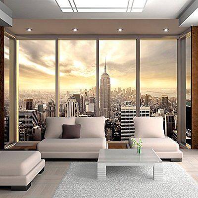 PREMIUM 3D DESIGN VLIES FOTOTAPETE ++ NEW YORK CITY FENSTER (2) ++