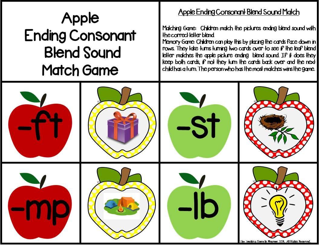 Ending Consonant Blends Centers Amp Activities