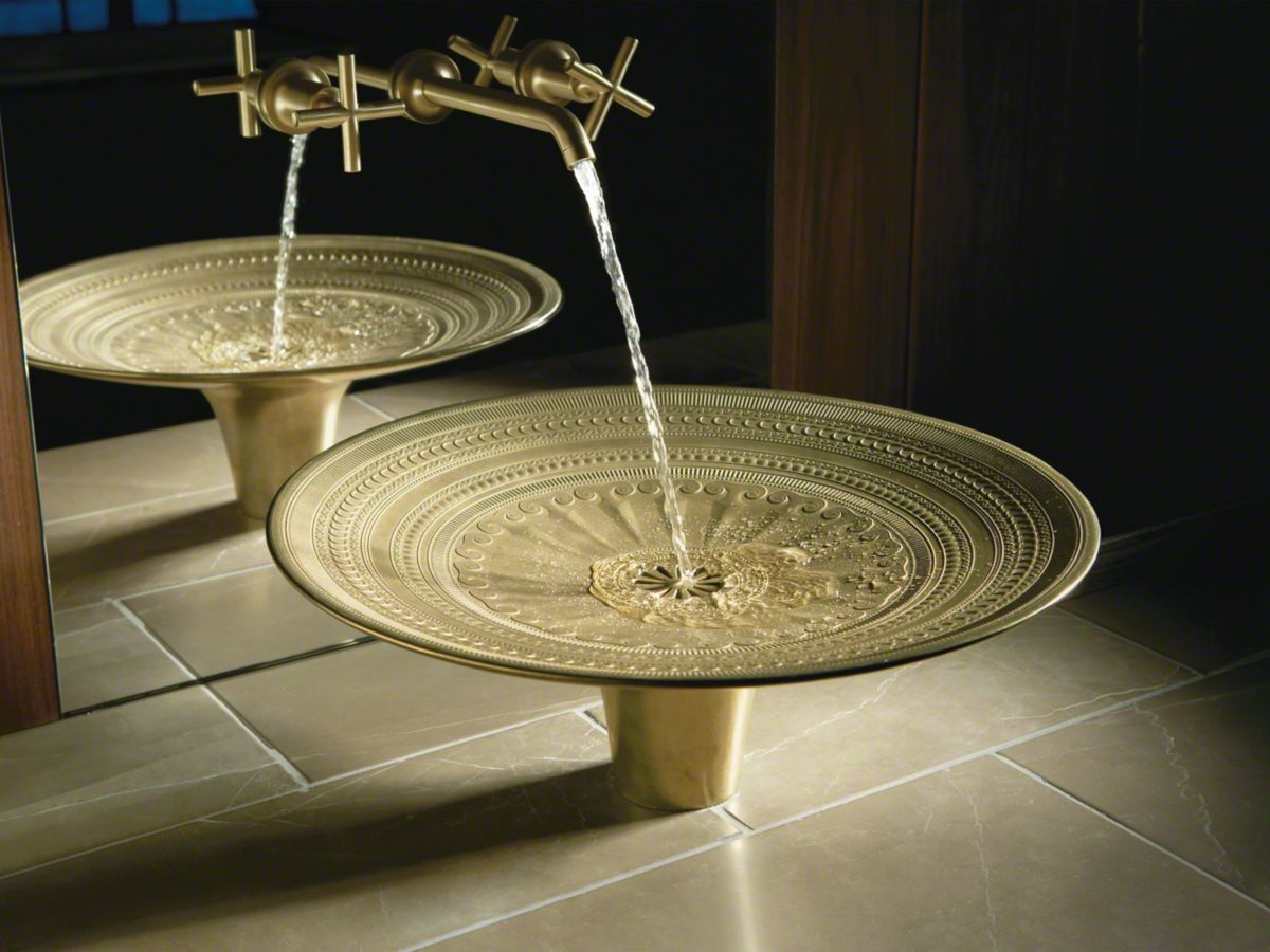 Kamala Vessel Cast Bronze Above Counter Bathroom Sink Inspired By