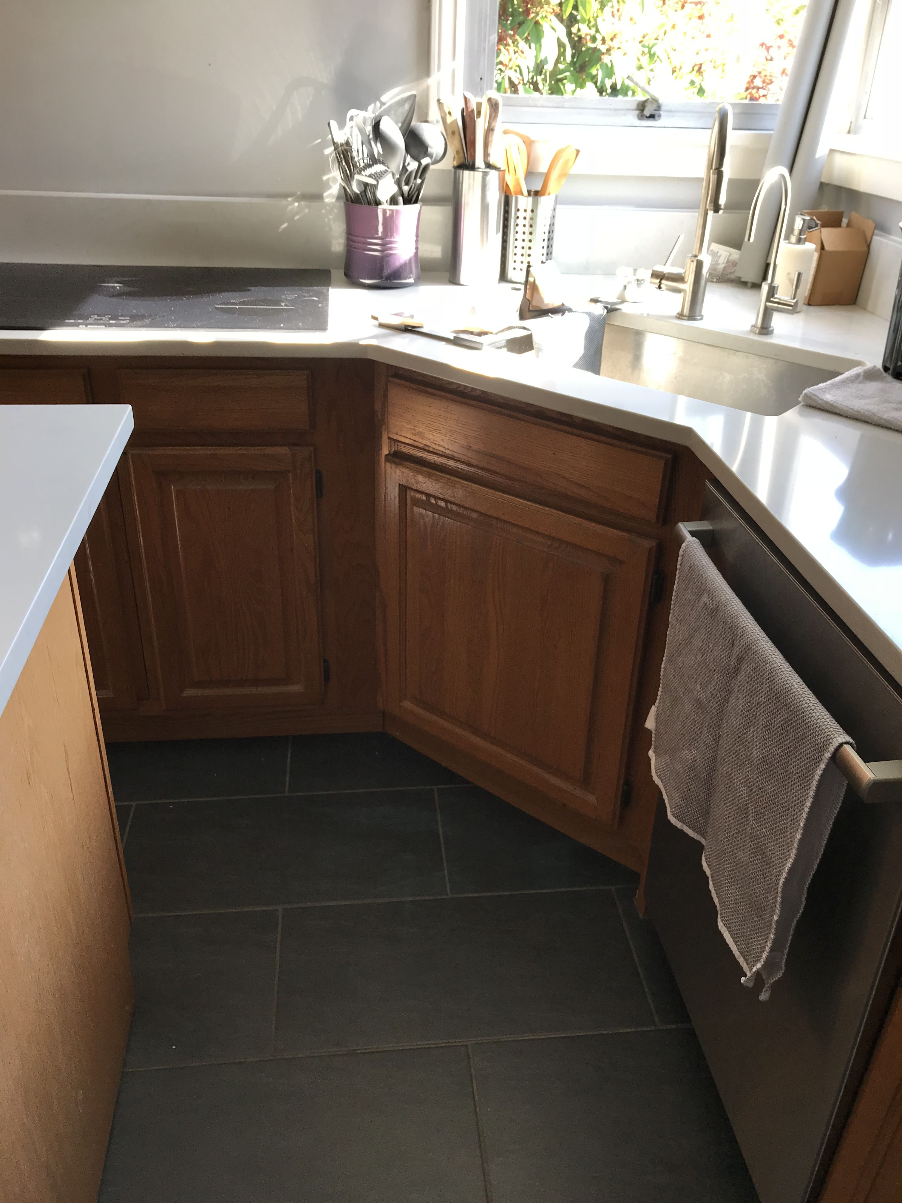 Cabs Under Sink Part Of Island Finish Kitchen Cabinets Started