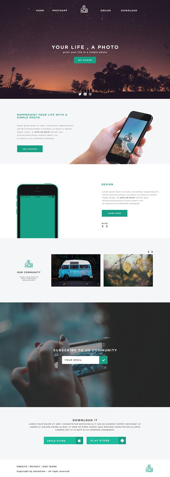 Phototime Free Website Template | Diseño web | Pinterest ...